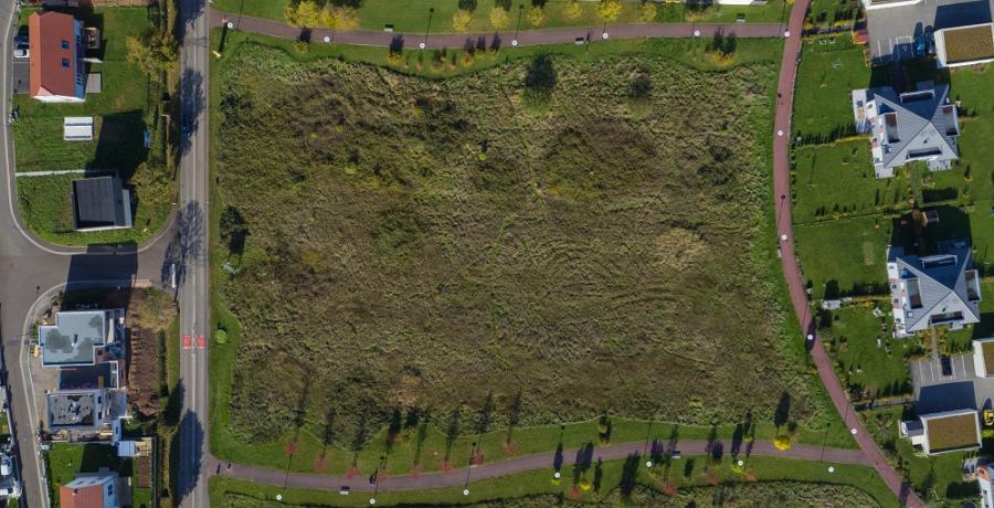 vue aérienne duplex jardin thann