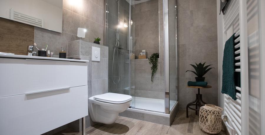 programme immobilier neuf à hangenbieten : BoCarré, duplex-jardin salle de bains