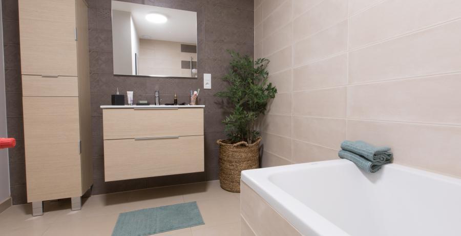 programme immobilier neuf à ringendorf : les carrés bellevue duplex jardin salle de bain