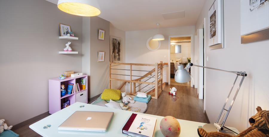 programme immobilier neuf à uffheim: les carrés cottage, duplex-jardin bureau