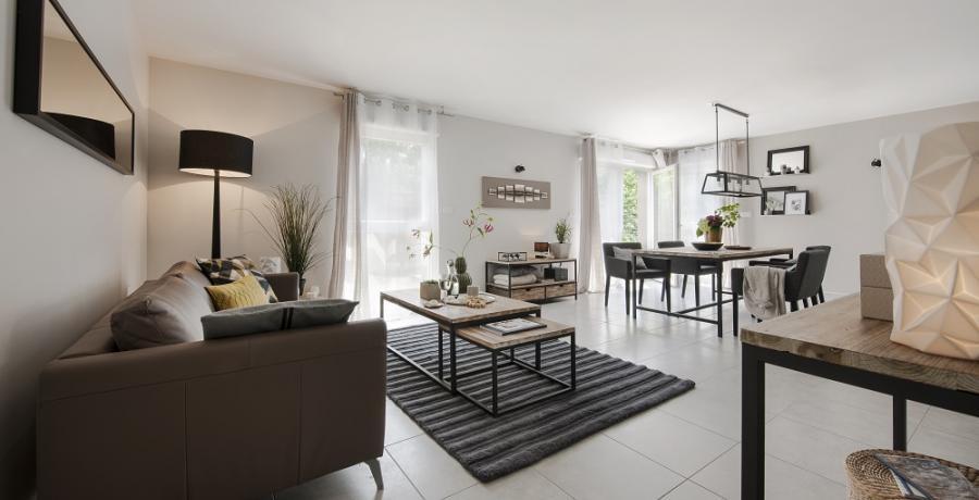 programme immobilier neuf à uffheim: les carrés cottage, duplex-jardin séjour