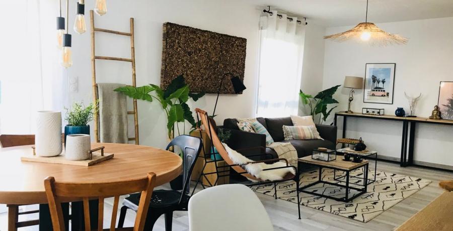 programme immobilier neuf à soultz-haut-rhin : les carrés de soie, duplex-jardin séjour