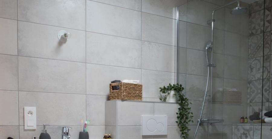programmes immobiliers neufs à chambery  : les carres des monts duplex jardin salle de bain