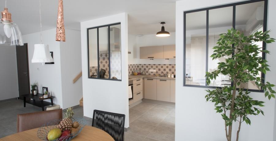 programmes immobiliers neufs à chambery  : les carres des monts duplex jardin séjour