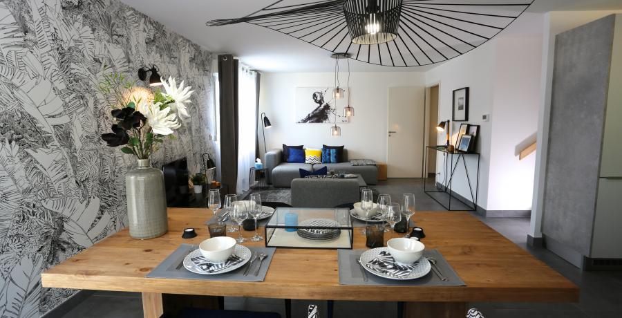 programme immobilier neuf à veigy-foncenex : les carrés des sens, duplex-jardin séjour