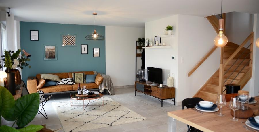 programme immobilier neuf à Marcilly-sur-Tille : les carrés culture, duplex-jardin salon