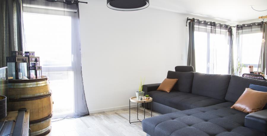 appartement duplex témoin à Wittenheim - salon