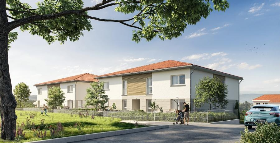 Appartement neuf Duplex-Jardin à Chassagny