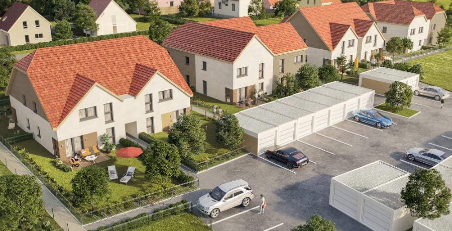 Appartement neuf Duplex-Jardin visuel aérien à Sélestat