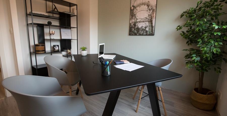 programme immobilier neuf à sélestat : les carrés art'mony, duplex-jardin bureau