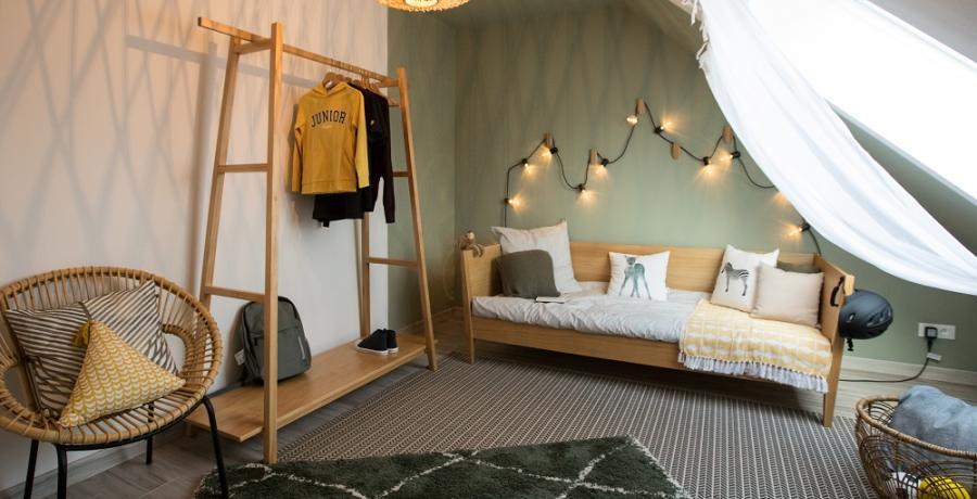 programme immobilier neuf à sélestat : les carrés art'mony, duplex-jardin chambre d'enfants