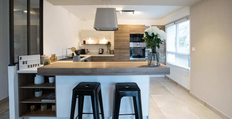 programme immobilier neuf à sélestat : les carrés art'mony, duplex-jardin cuisine