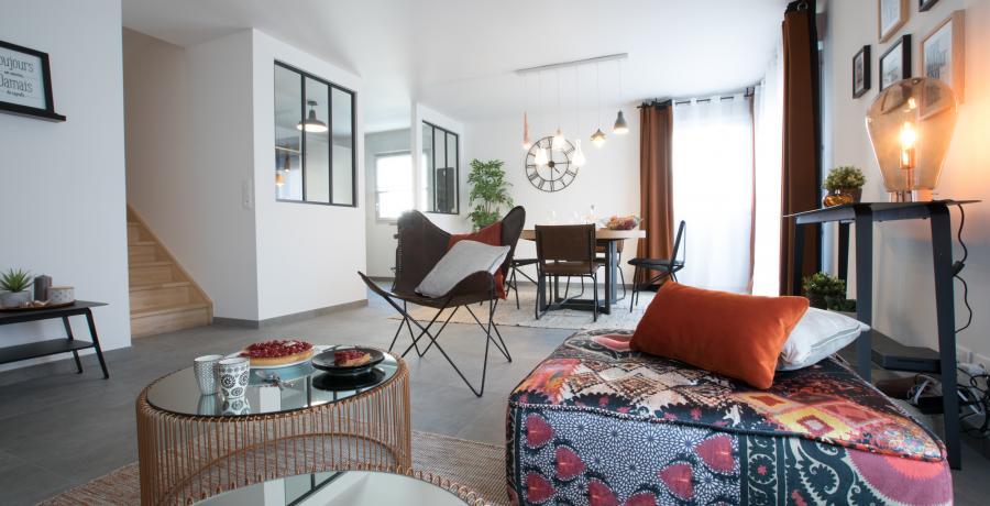 programme immobilier neuf à Grésy-sur-Aix : les carrés du Revard, duplex-jardin salon