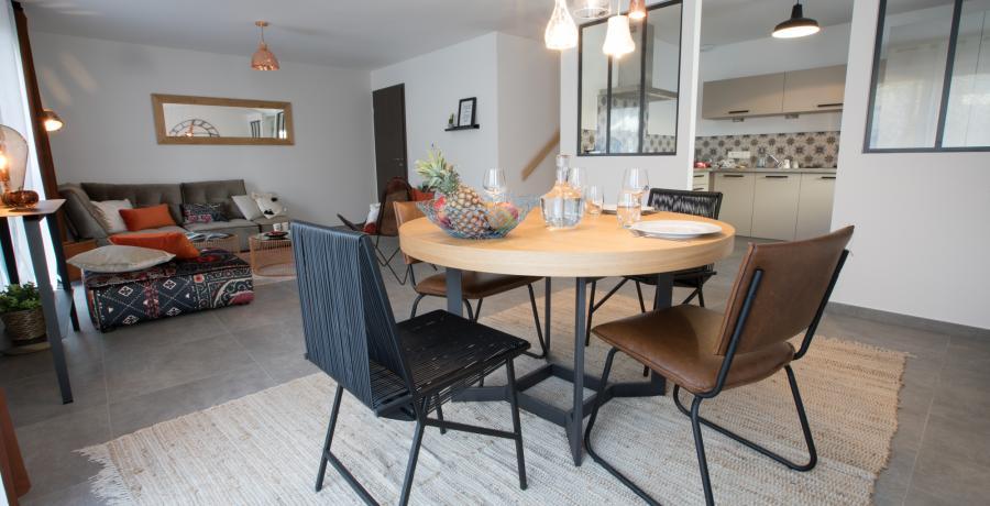 programme immobilier neuf à Grésy-sur-Aix : les carrés du Revard, duplex-jardin séjour