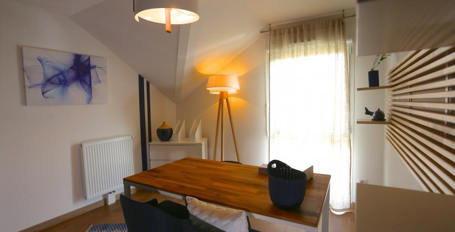 programme immobilier neuf à Faverges : les carrés du Sapin Bleu, duplex-jardin bureau