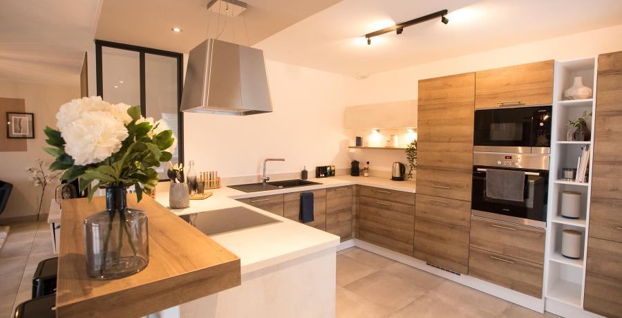 programme immobilier neuf à chatenois-les-forges : les carrés d'hortense, duplex-jardin cuisine