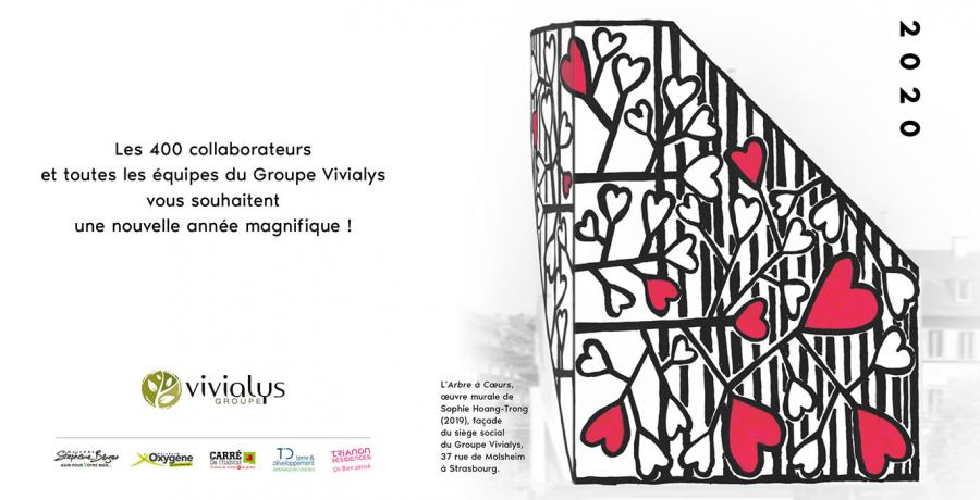 Carte de voeux groupe Vivialys 2020