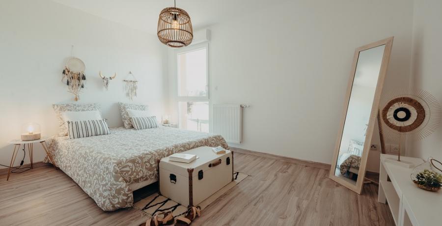 programme immobilier neuf à Sainte-Foy d'Aigrefeuille : les carrés du lac, duplex-jardin chambre