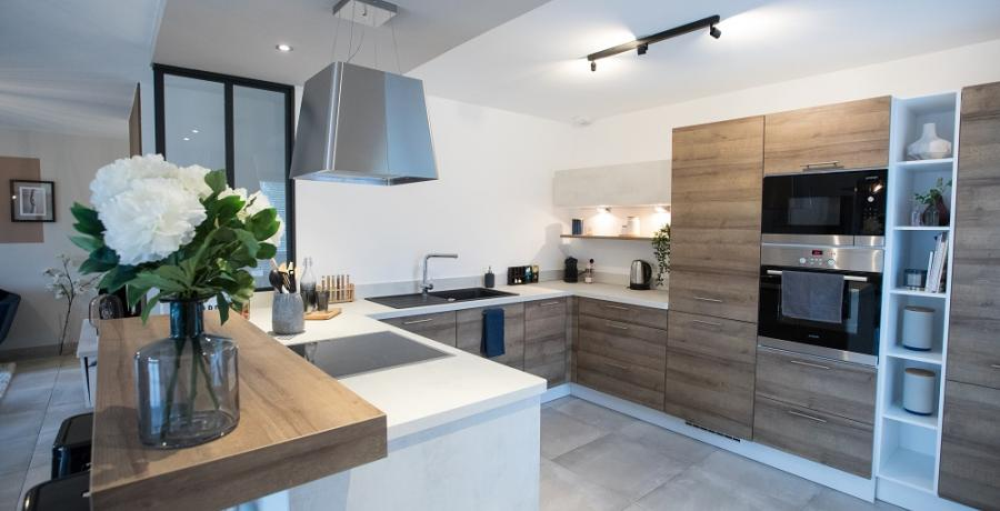 programme immobilier neuf à Scharrachbergheim : les carrés de la Mossig, duplex-jardin cuisine