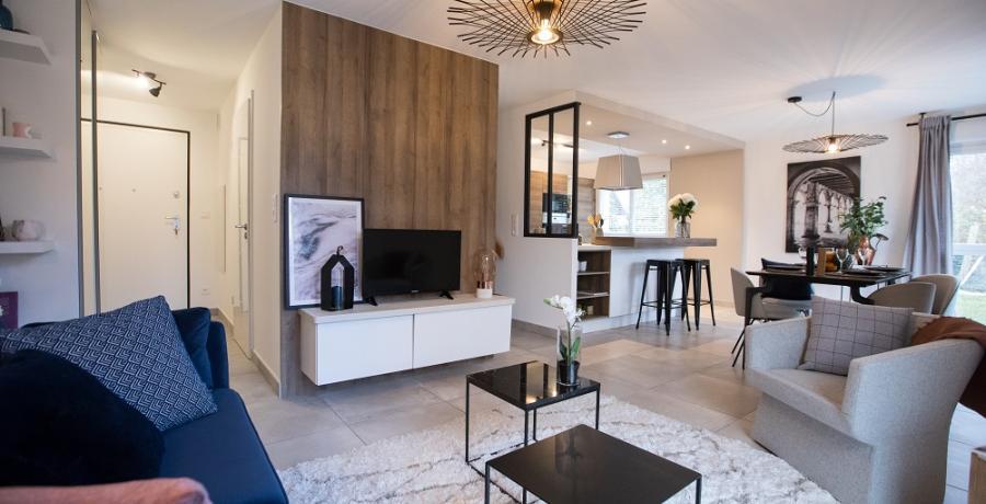 programme immobilier neuf à Scharrachbergheim : les carrés de la Mossig, duplex-jardin sejour