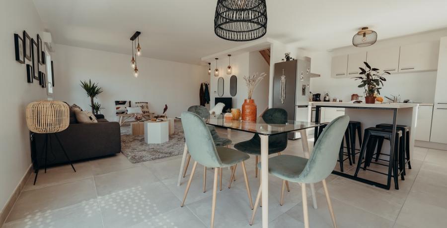 programme immobilier neuf à Auzeville-Tolosane : les carrés des coteaux, duplex-jardin séjour