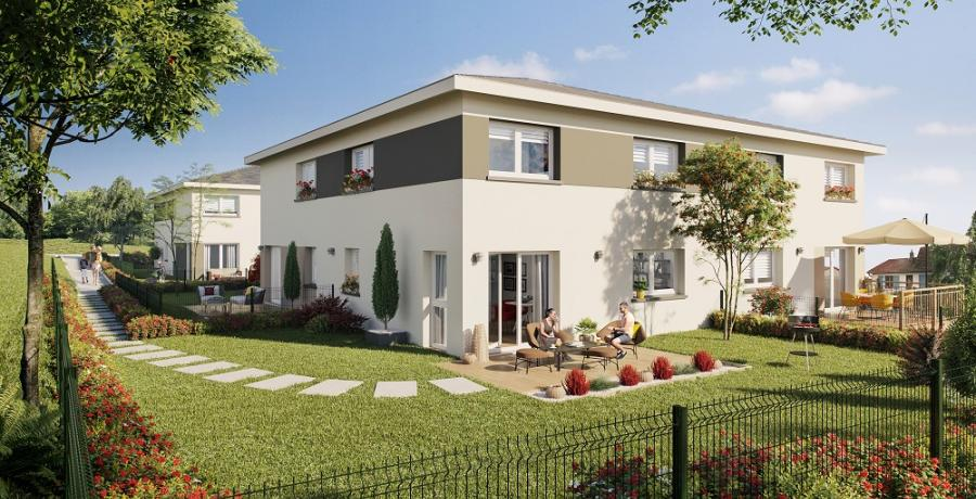 Appartement neuf duplex-jardin à Geneuille