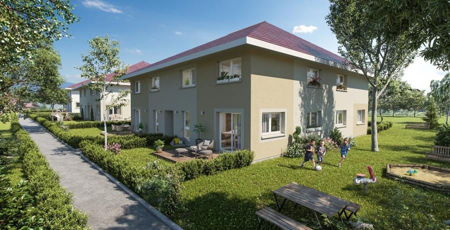Appartement neuf duplex-jardin à Sallenôves