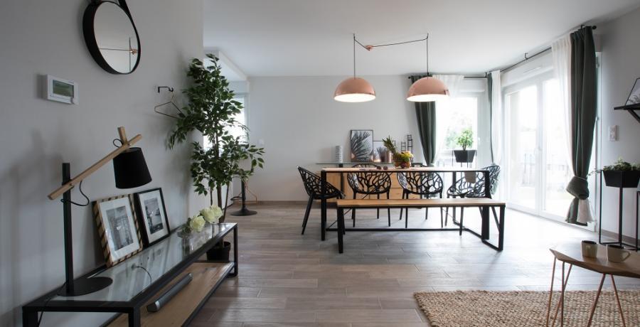 programme immobilier neuf à Griesheim-Près-Molsheim : les carrés du Rebond, duplex-jardin séjour