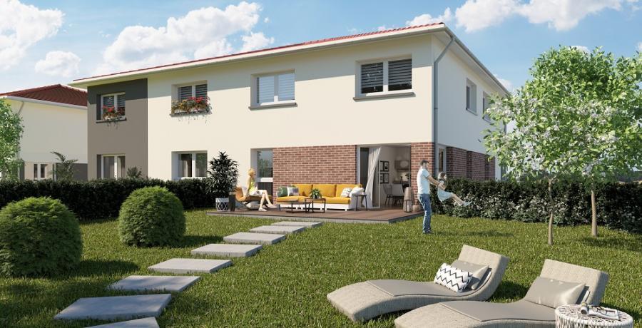 Appartement neuf duplex-jardin à Mulhouse Dornach
