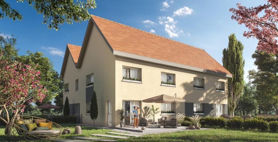 Appartement neuf duplex-jardin à Ouges