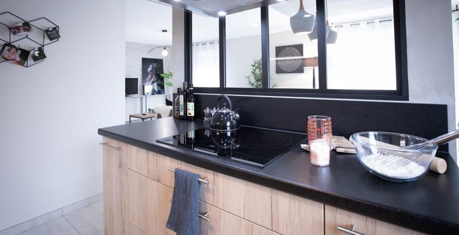 programme immobilier neuf à tagolsheim: les carrés de louise, duplex-jardin cuisine