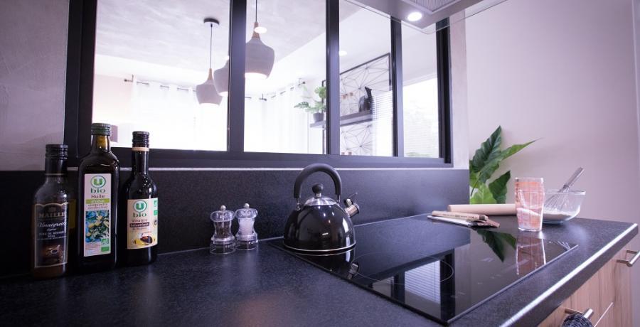 programme immobilier neuf à mulhouse dornach : les carrés des violettes, duplex-jardin chambre cuisine