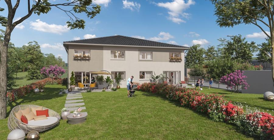 rogramme immobilier neuf à Geneuille : les carrés d'Odile duplex-jardin séjour