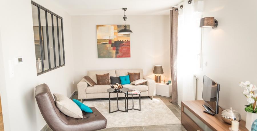programme immobilier neuf à Chassagny : les carrés du Côteau duplex-jardin salon