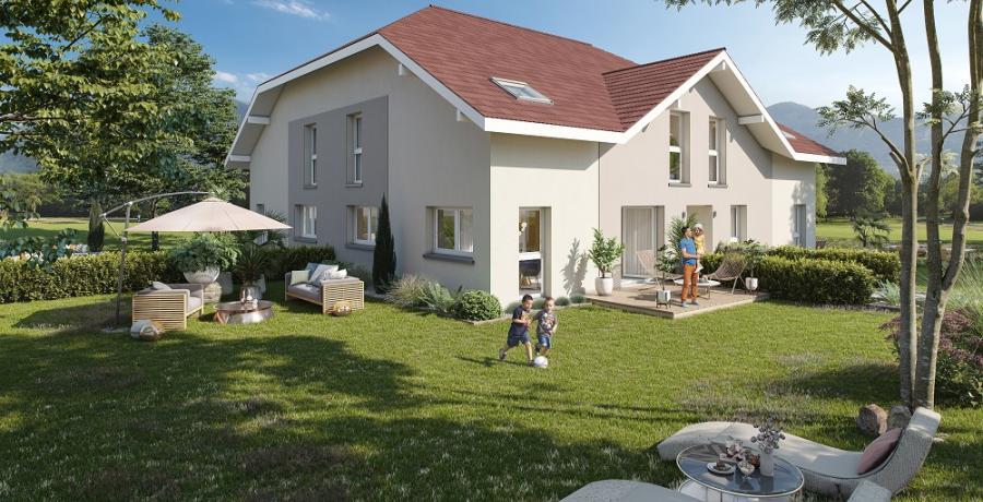 Appartement neuf duplex-jardin à Amancy