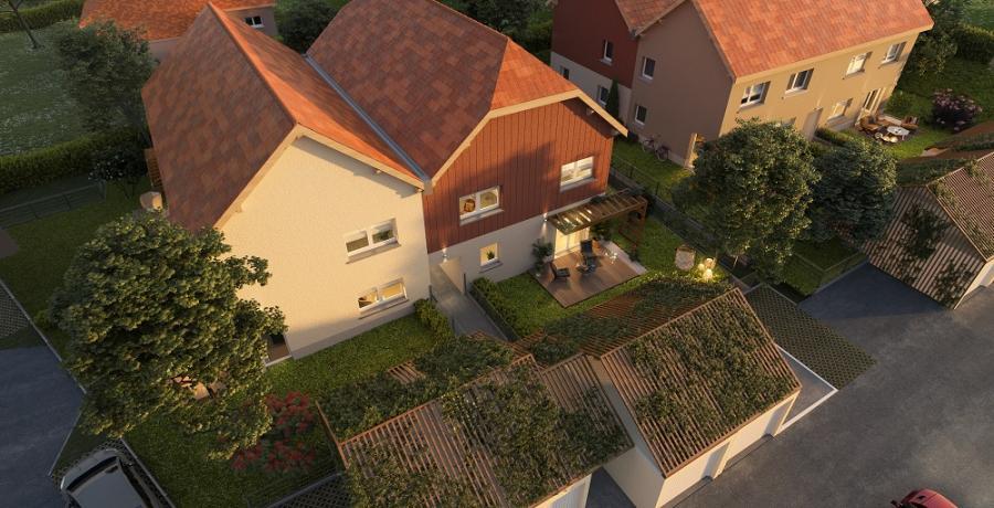 Appartement neuf Duplex-Jardin à Scharrachbergheim visuel aérien