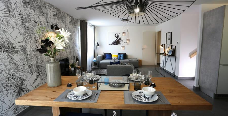 programme immobilier neuf à amancy : les carrés rubisko, duplex-jardin séjour