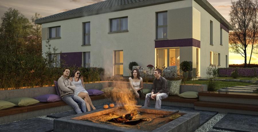 Appartement neuf duplex-jardin à Saint-Jean-de-Sixt