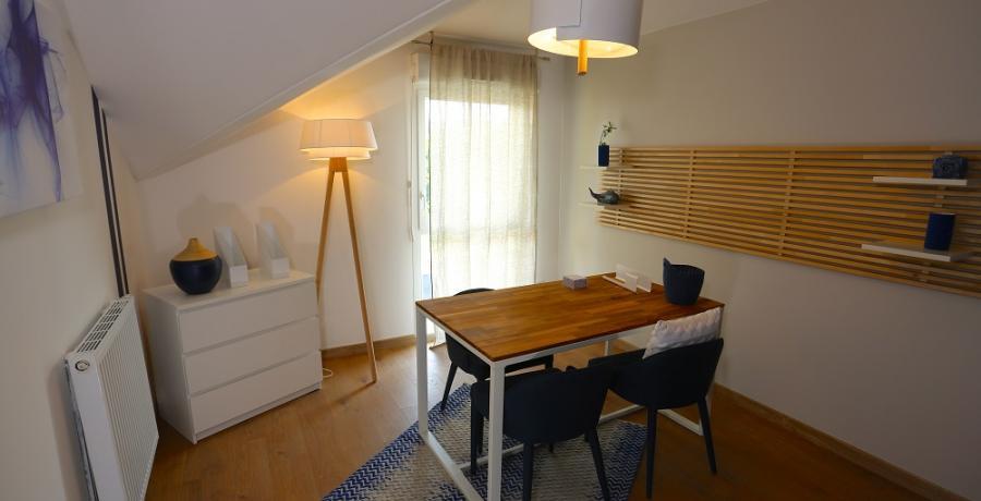 programme immobilier neuf aux clefs : les carrés du belle fleurie duplex-jardin bureau