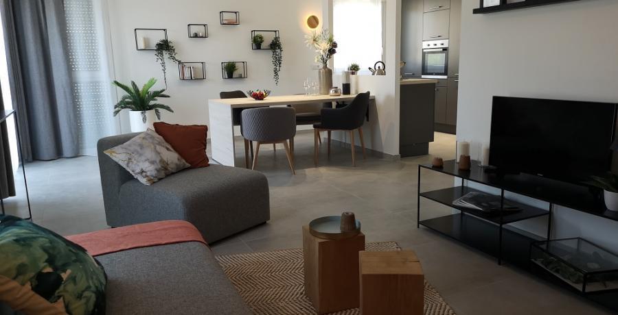 programme immobilier neuf à  Saint-Jean-de-Sixt : les carrés Bienheureux duplex-jardin salon