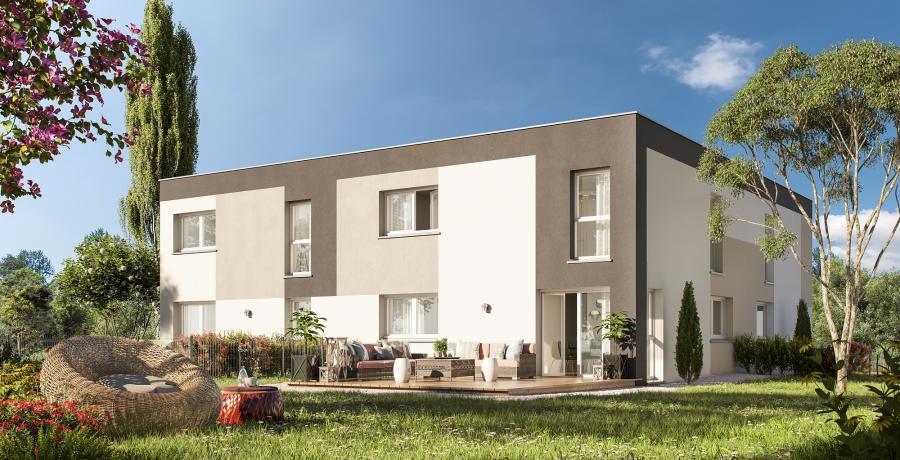 Appartement neuf Duplex-Jardin à Mittelschaeffolsheim piéton
