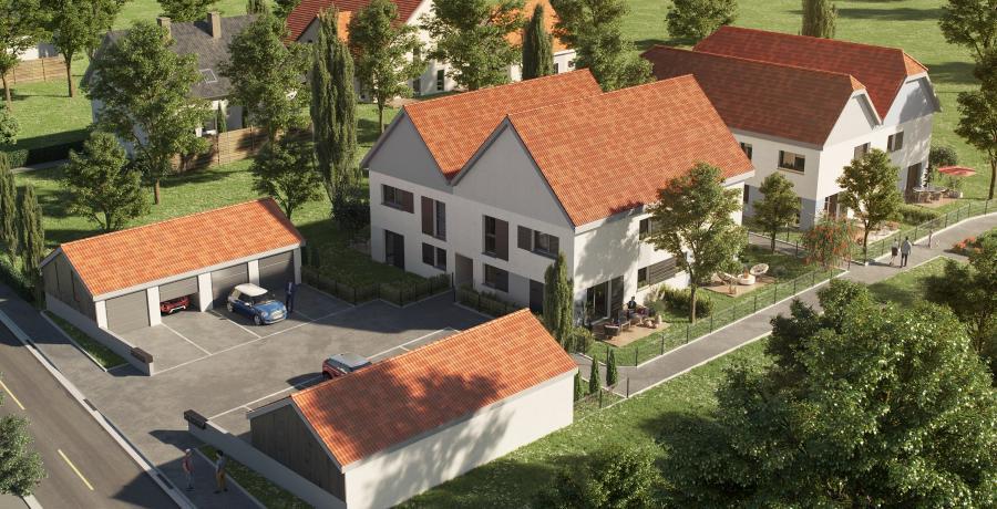 Appartement neuf Duplex-Jardin à Uttenheim aérien