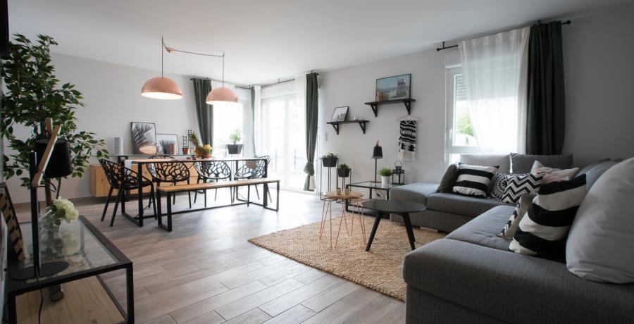 programme immobilier neuf à Mittelschaeffolsheim : Les Carrés Ciel, duplex-jardin salon