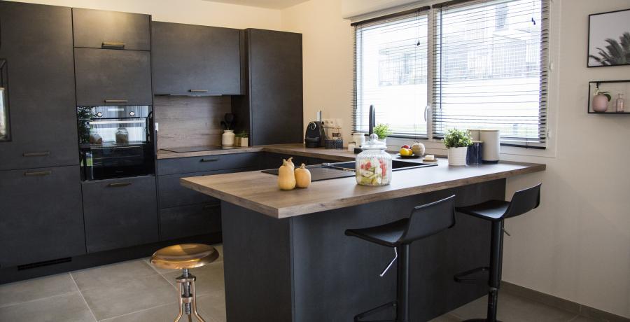 appartement duplex témoin Hangenbieten - cuisine