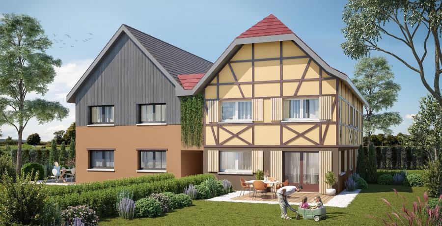 Appartement neuf Duplex-Jardin à Ebersmunster