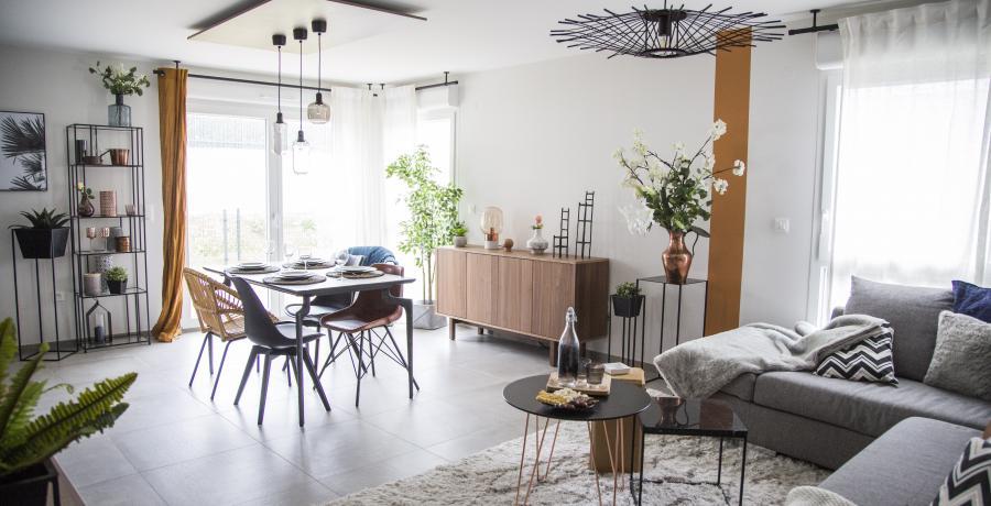 programme immobilier neuf à Duppigheim : Les Carrés Flore, duplex-jardin salon