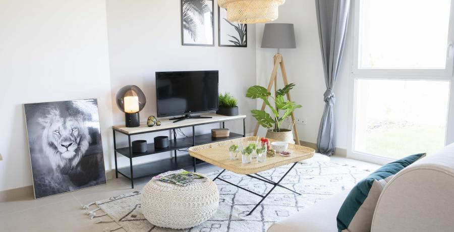 Programme immobilier neuf aux Auxons : les Carrés d'Ausona, duplex-jardin salon