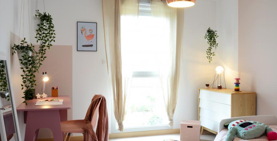 Programme immobilier neuf à Flagey-Echézeaux : les Carrés d'Echézeaux, duplex-jardin chambre enfant