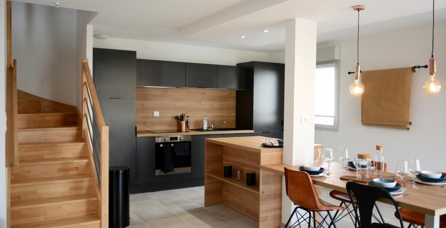 Programme immobilier neuf à Flagey-Echézeaux : les Carrés d'Echézeaux, duplex-jardin cuisine