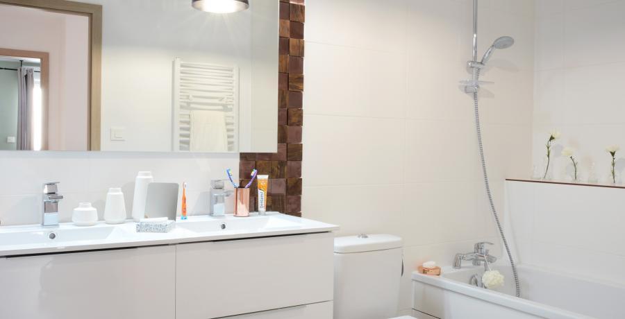 Programme immobilier neuf à Flagey-Echézeaux : les Carrés d'Echézeaux, duplex-jardin salle de bain